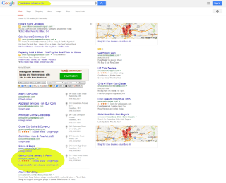 First Page Search Results O.T. Web Designs SEO program