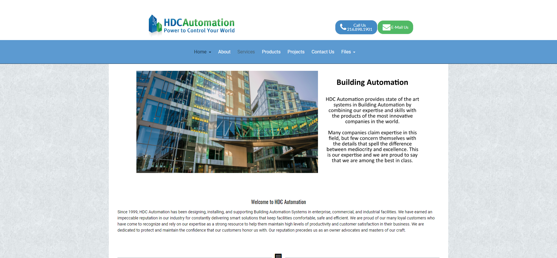 New Website for HDC Automation
